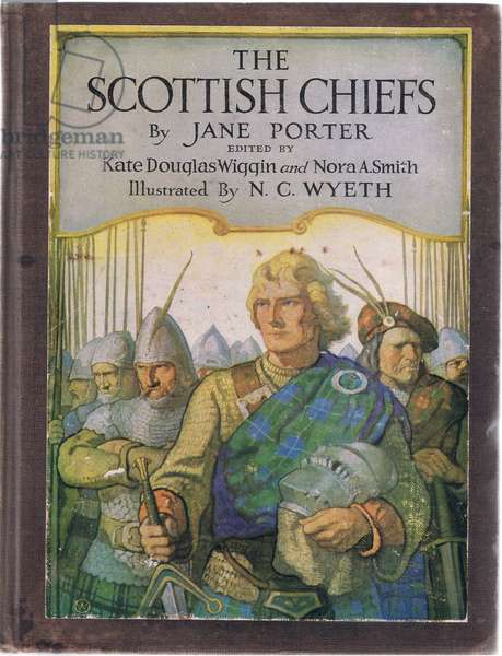 Front board design, from The Scottish Chiefs published by Charles Schribner's Sons, 1930 (colour litho)