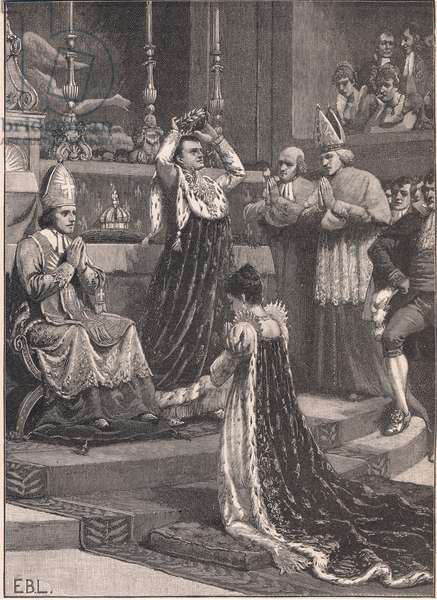 The coronation of Napoleon in Notre Dame AD 1805