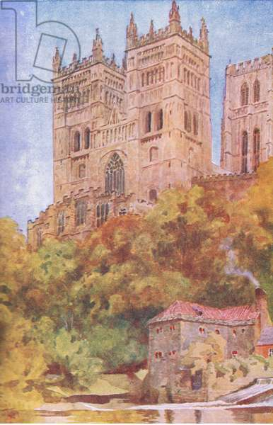 Durham Cathedral, illustration from'Childrens Tales of English Minsters', c.1920 (colour litho)