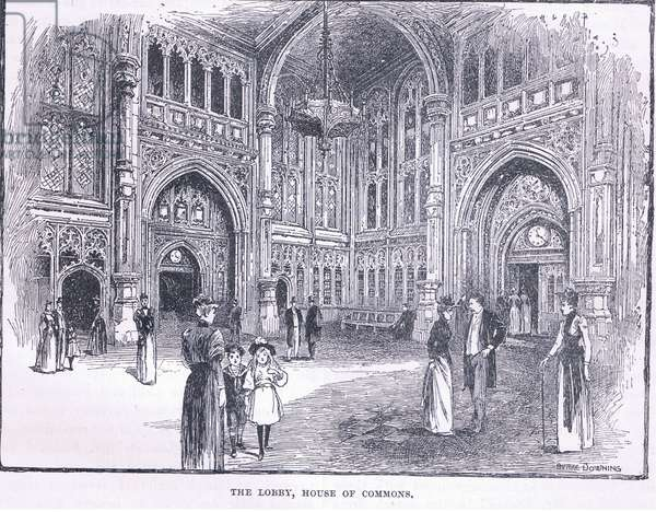 The Lobby, House of Commons (litho)