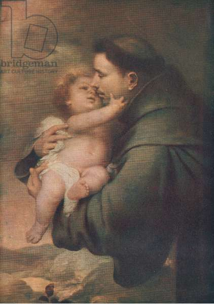 St Anthony of Padua with the Christ child, Bibbys Annual, 1916-17 (colour litho)