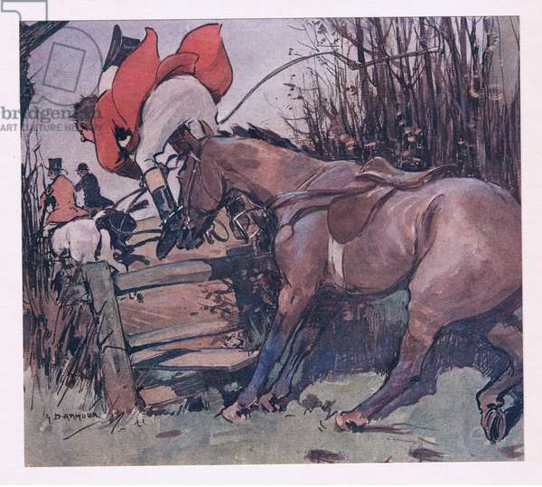 Better for to charge wiggorously, from Mr Jorrocks' Lectors published by Hodder & Stoughton, 1910 (colour litho)