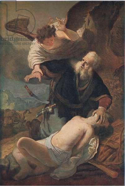 The sacrifice of Isaac, Bibbys Annual, 1916-1917 (colour litho)