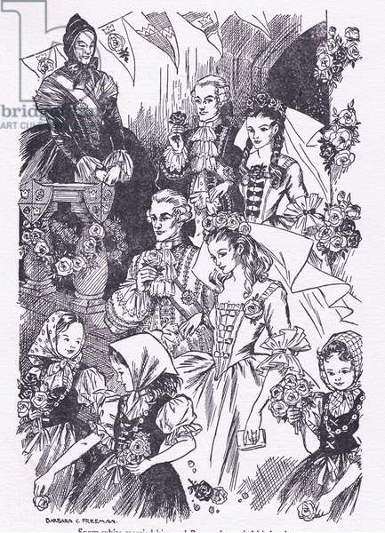Snow White married him and Rose Red married his brother (litho)