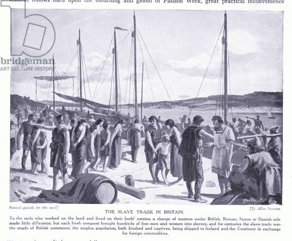 The slave trade in Britain, 1920's (litho)