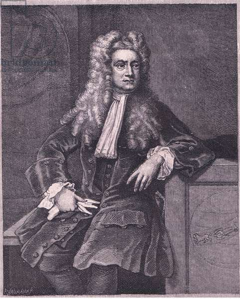 Sir Isaac Newton (litho)