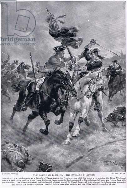 The Battle of Blenheim, c.1910 (litho)