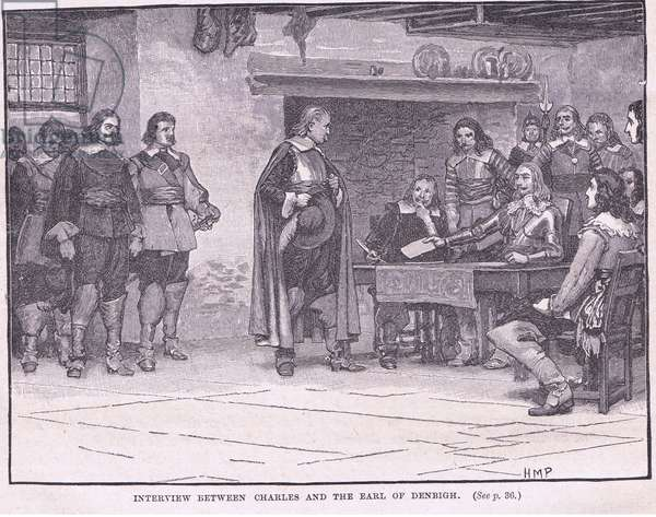 Interview between Charles and the Earl of Denbigh AD 1644 (litho)
