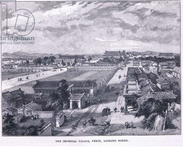 The Imperial Palace, Pekin. Looking North  (litho)