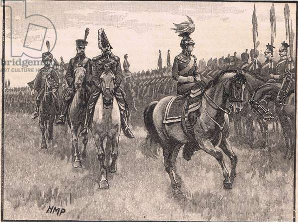 The Queen of Prussia reviewing the army AD1806