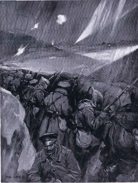 Bulgarians besieging Adrianople (1912-1913) Balkans War, from Hutchinson's History of the Nations (Volume 4) published by Hutchinson, c. 1920 (litho)