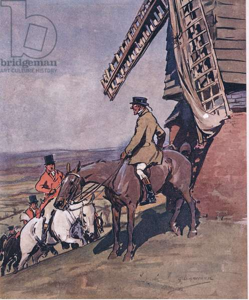 """""""Vich vay? Vich vay? Are the 'ounds gone?, from Mr Jorrocks' Lectors published by Hodder & Stoughton, 1910 (colour litho)"""