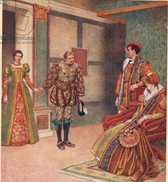 'You saw the mistress, I beheld the maid', illustration from 'The Merchant of Venice', c.1910 (colour litho)