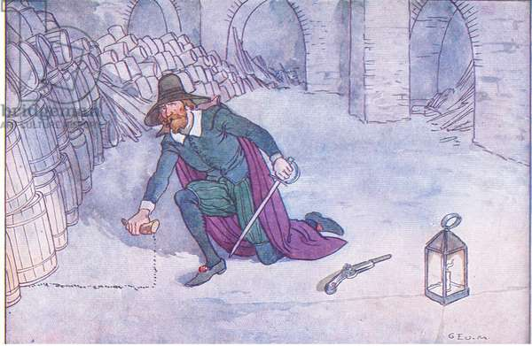 The Gunpowder Plot, from A Nursery History of England published by Nelson and Sons, c. 1940 (colour litho)