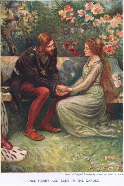 Prince Henry and Elsie  (colour litho)