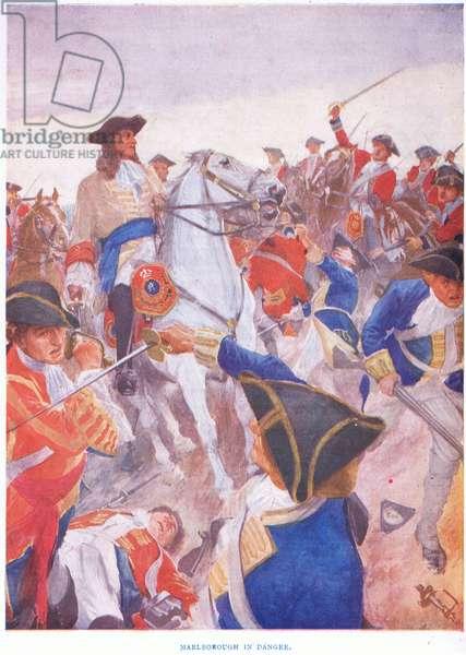 Marlborough in danger: Blenheim 1704, 1915 (colour litho)