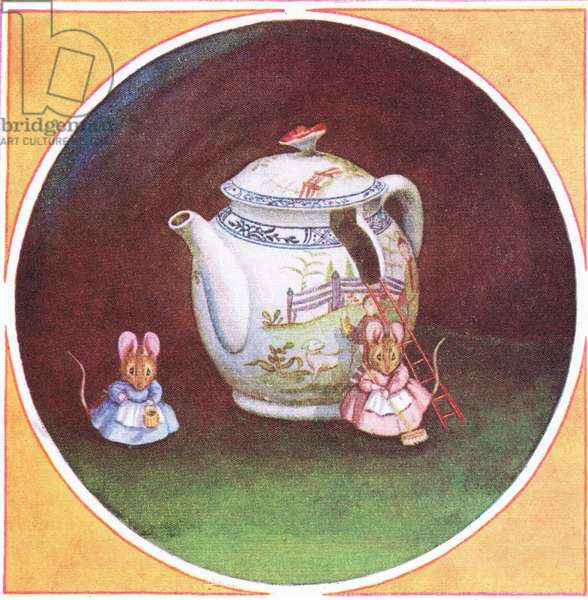 Two From a Teapot: Title page (colour litho)