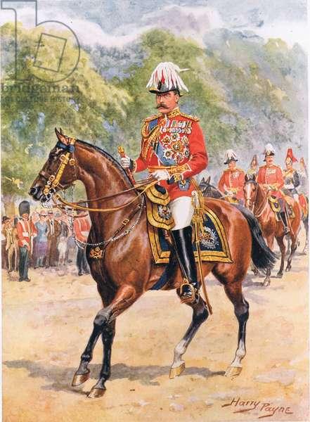 'Field-Marshal Earl Kitchener', illustration from 'Brave Deeds by Brave Men', by C. Sheridan Jones, pub. 1922 (litho)
