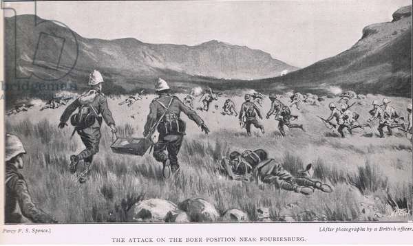The attack on the Boer position near Fouriesburg
