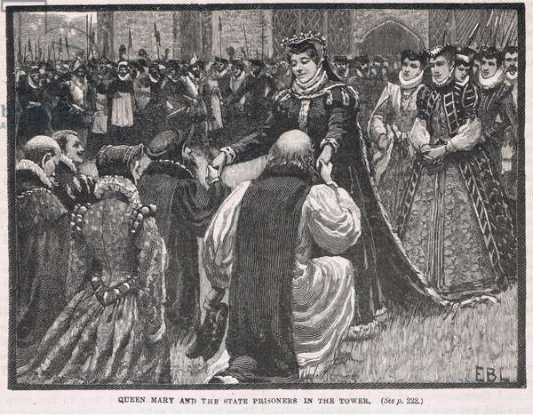 Mary queen of Scots in prison in the Tower 1553