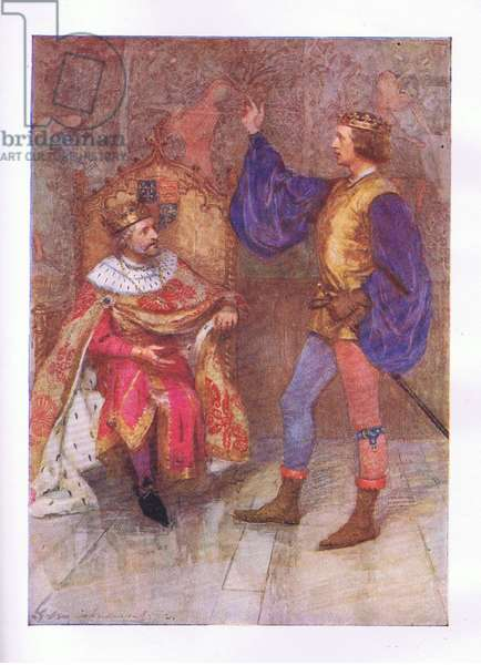 """And I will die a hundred thousand deaths ere break the smallest parcel of this vow"" (King Henry IV), from The Complete Works of Shakespeare published by George Harrap & Co Ltd, 1920's (colour litho)"