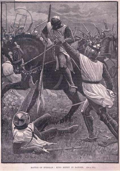 Battle of Evesham AD 1265 (litho)