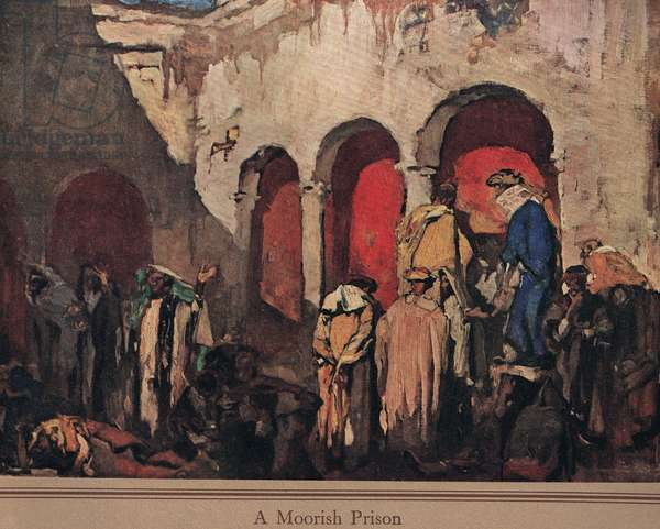 A Moorish Prison, c.1915 (colour litho)