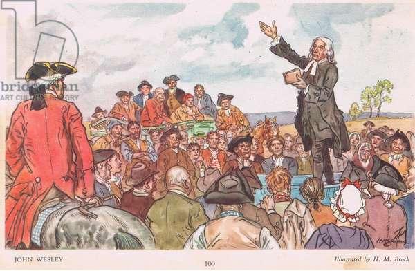 John Wesley (colour litho)
