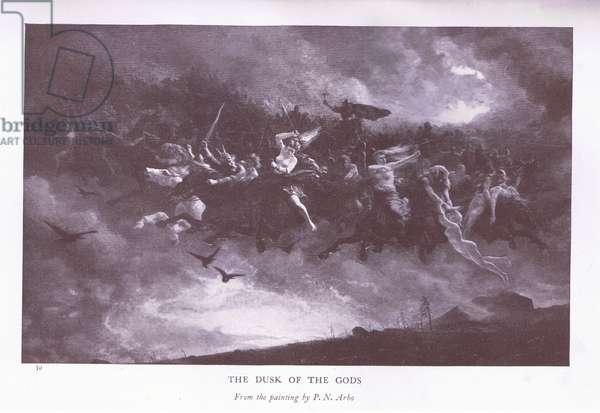 The Dusk of the Gods, 1920's (litho)