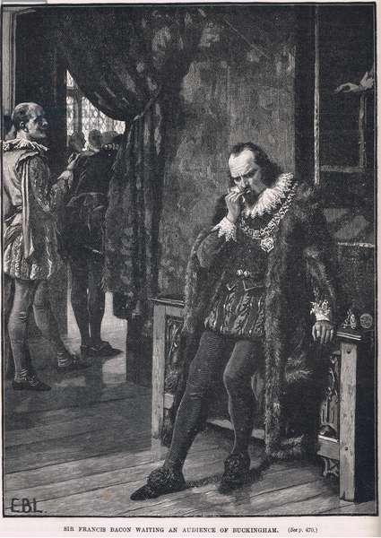 Sir Francis Bacon waiting an audience of Buckingham 1616