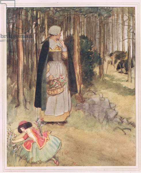 She beheld the old physician in quest of roots and herbs