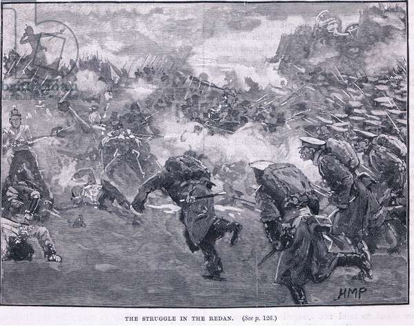 The struggle in the Malakoff 1855 AD (litho)