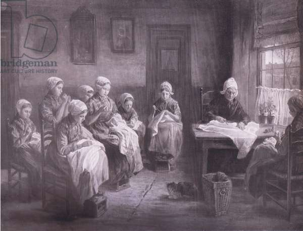 The sewing school at Katwyk, Bibbys Annual, 1916-1917 (litho)
