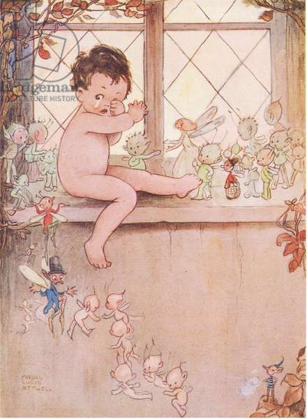The window was shut, illustration from'J M Barrie's Peter Pan and Wendy', 1951 (colour litho)