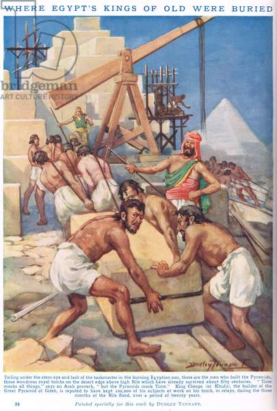 Where Egypt's Kings of old were buried, illustration from 'Newnes' Pictorial Book of Knowledge' (colour litho)
