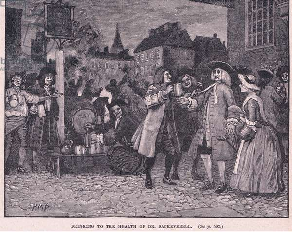 Drinking the health of Dr Saheverell AD 1710 (litho)