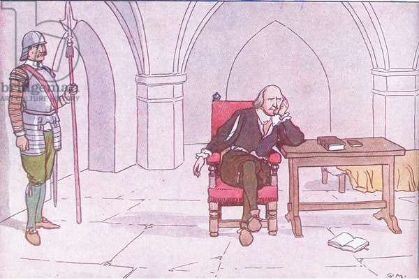 Archbishop Laud, from A Nursery History of England published by Nelson and Sons, c. 1940 (colour litho)