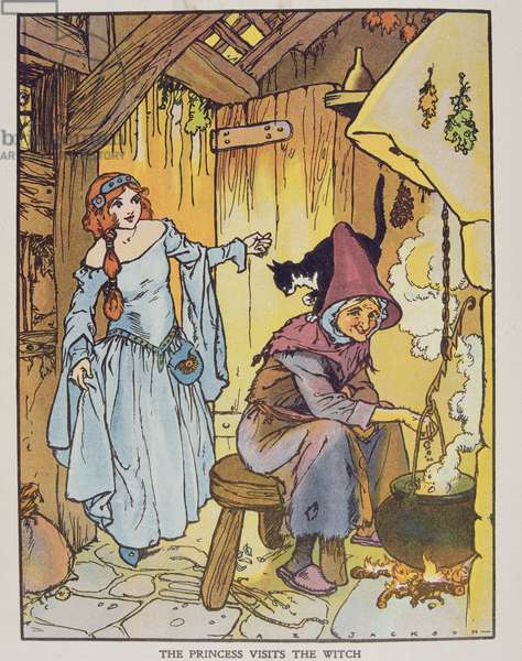 The Princess Visits the Witch from 'Blackie's Children's Annual', Nineteenth Year Book (book illustration)