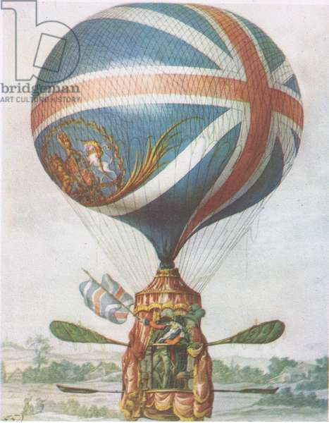 Lunardi's Balloon, from British Adventure published by Collins, 1947 (colour litho)