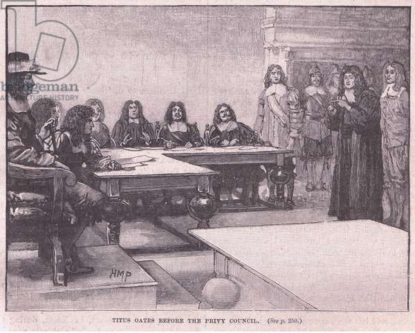 Titus before the Privy Council (litho)