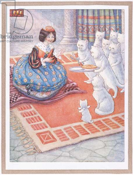 The cats brought the princess some mouse pie (colour litho)