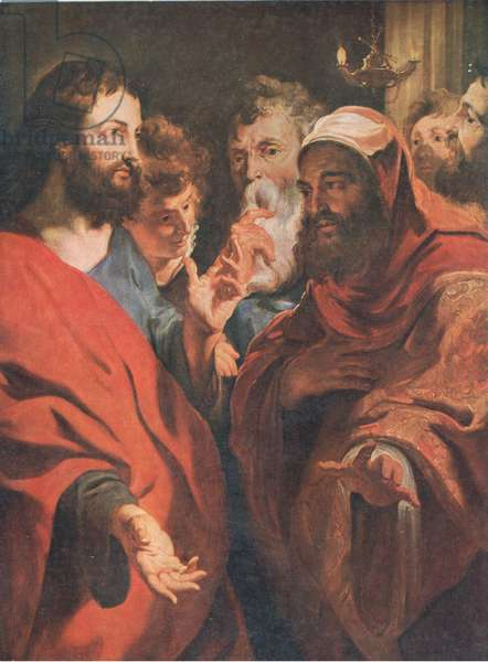 Jesus instructing Nicodemus, Bibbys Annual, 1916-17 (colour litho)