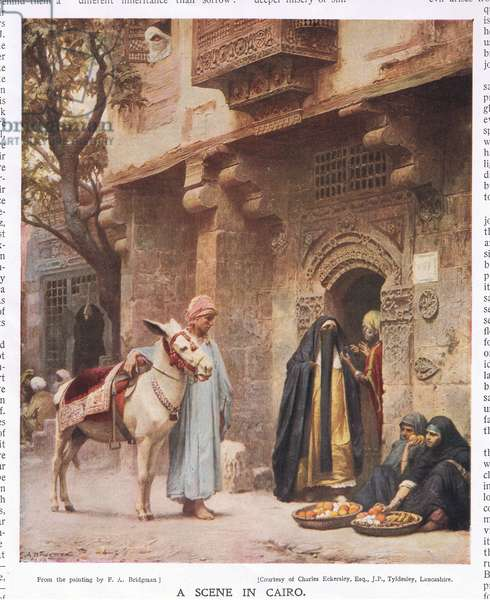 A scene in Cairo, from the 'Bibby Annual' published in 1917 (colour litho)