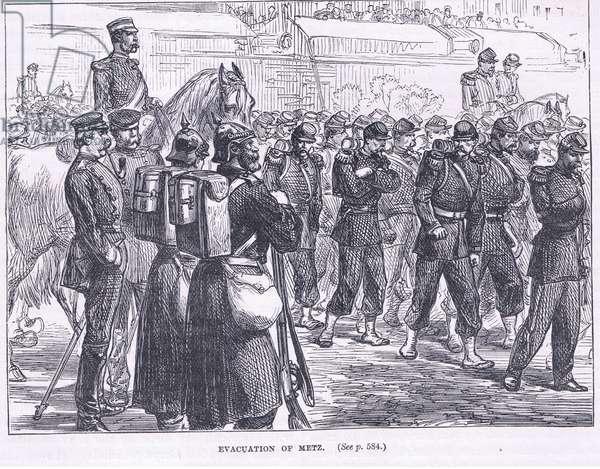 Evacuation of Metz (litho)