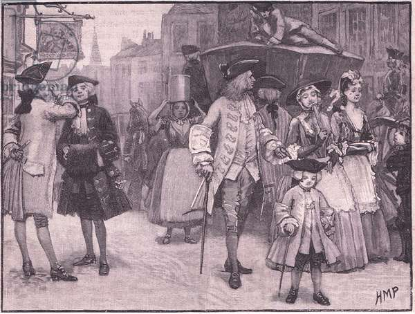 Costumes of the period of George III