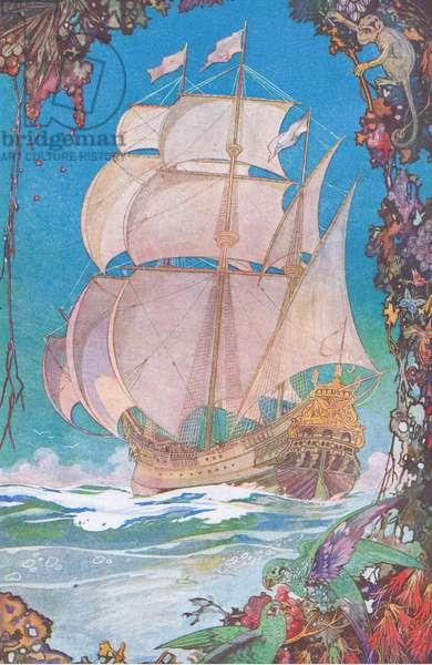 Through the magic seas  (colour litho)