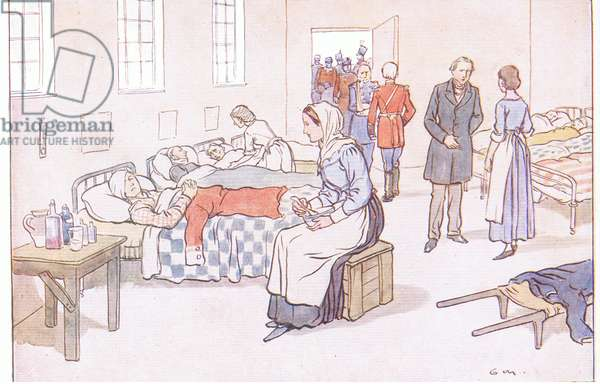 Florence Nightingale, from A Nursery History of England published by Nelson and Sons, c. 1940 (colour litho)