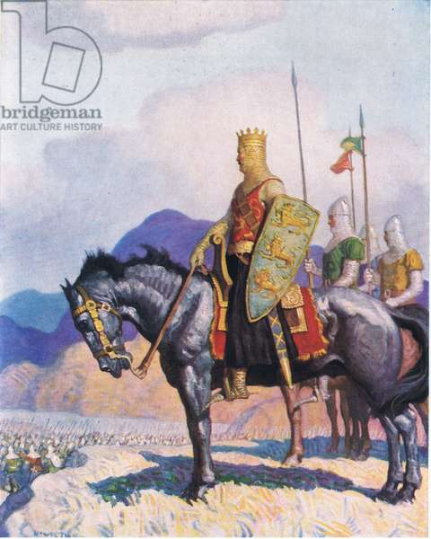 King Edward, from The Scottish Chiefs published by Charles Schribner's Sons, 1930 (colour litho)