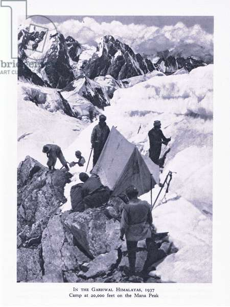 In the Garhwal, Himalayas, 1937, from British Adventure published by Collins, 1947 (b/w photo)