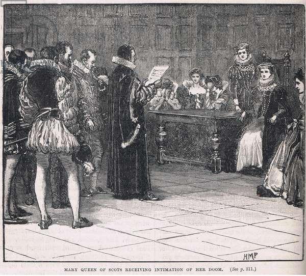 Mary Queen of Scots receiving intimation of her doom